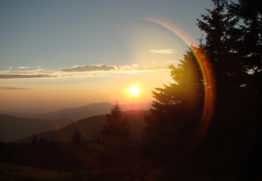 Закарпатский закат солнца