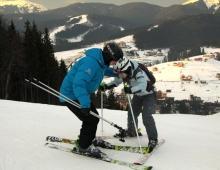 Первый опыт на лыжах