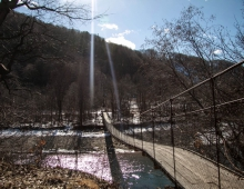 Переход через горный поток