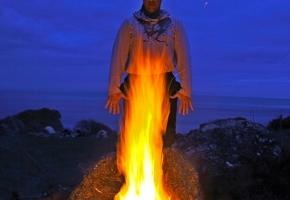 Медитация на огонь. Инструктор Школы йоги в Чернигове.