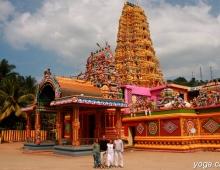 Красочный храм Сарасвати
