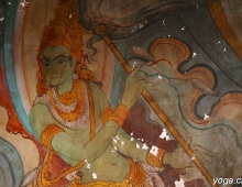 Фреска в буддийском храме