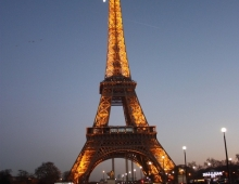 Париж. Эйфелева башня вечером