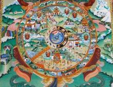 Колесо сансары. Буддизм. Тибетские танки