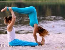 Силовая парная йога, балансы